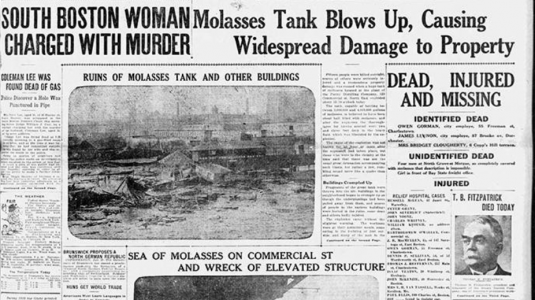 Great Molasses Flood Boston 1919: 100th Anniversary